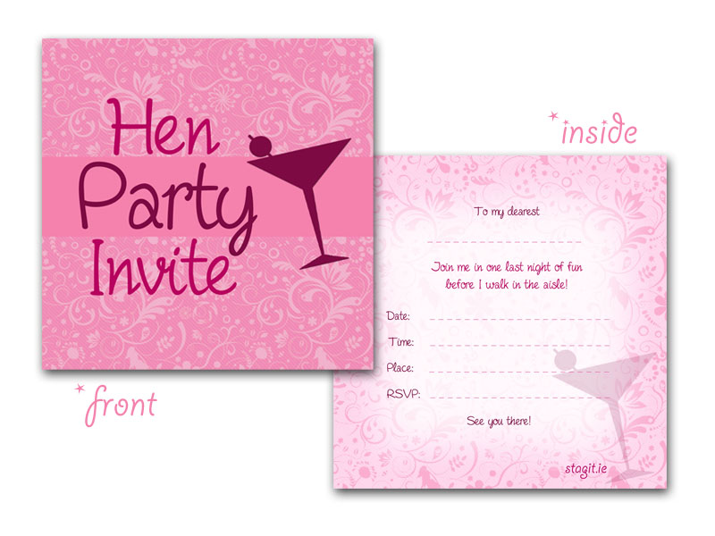 Hen Party Invitations,Activities & Ideas,Henit.ie | Henit