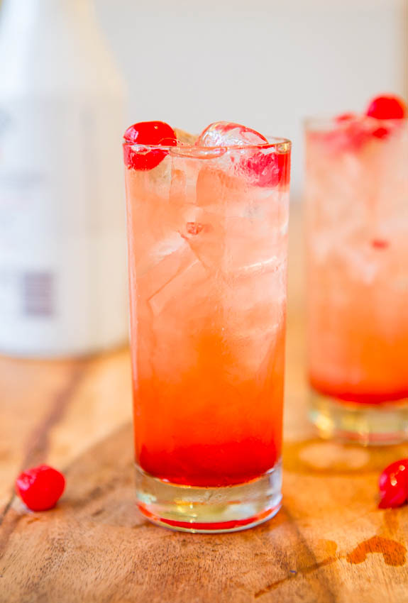 hen party ideas: easy cocktail recipes - malibu sunset